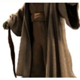 Natural, soft brown & white colors of my Jedi outfit.