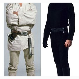 Variety. I wear and all white outfit sometimes, an all black outfit, and now a traditional Jedi robe.