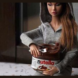 A tub of Nutella wedged between your thighs