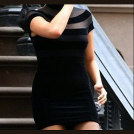 """This beautiful black """"first date"""" dress."""