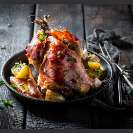 Pheasant with Bacon