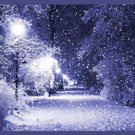 A snowy street. Let it snow this winter!