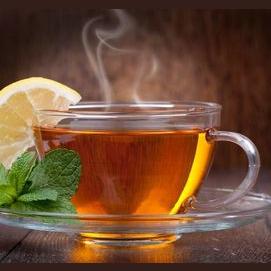 Mint tea with lemon juice