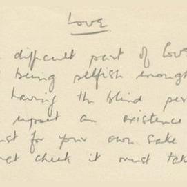 A meaningful, handwritten poem