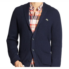 A button down with a cardigan