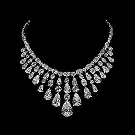 An expensive diamond necklace. The flashier, the better