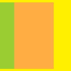 green, orange and yellow