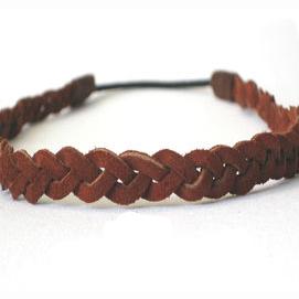 A leather headband