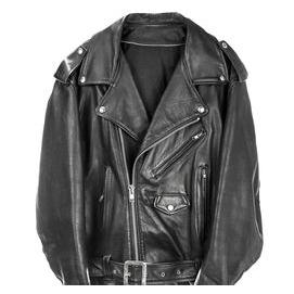 A leather biker jacket