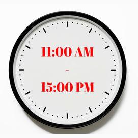 11:00 AM - 15:00 PM
