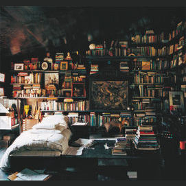 Cozy and full of all my favorite books!
