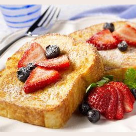 You can never go wrong with French toast!