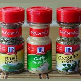 Some basics like basil and paprika