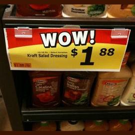 I take advantage of whatever's on sale