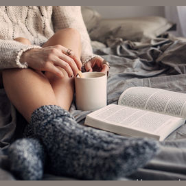 Staying in with a book and cup of tea