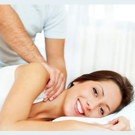 Oh, a massage from a delicious masseuse will do just fine, darling.