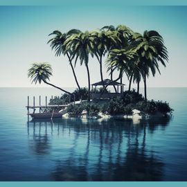 A secluded island