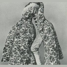 Super long printed coat