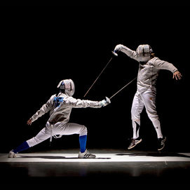 Games like fencing or laser tag