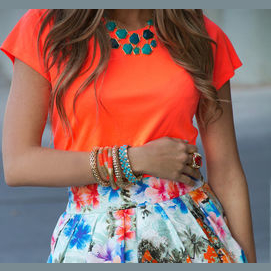 Anything that stands out; bold and bright
