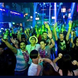 Dance in the disco club