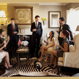 Organize a small party with sophisticated people