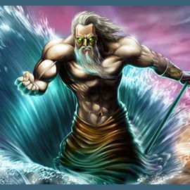 Poseidon, God of the Sea.