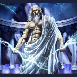 Zeus, God of Thunder.