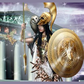 Athena, Goddess of Wisdom.