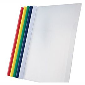 Clear plastic folders