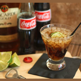 Bacardi and Coke