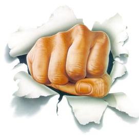 My fists!