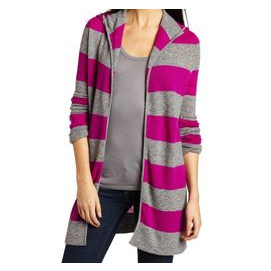 A cardigan with a t-shirt underneath.