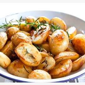 Roasted Mini Potatoes with Rosemary