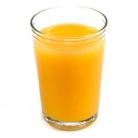 Orange juice - alcohol is for mugs