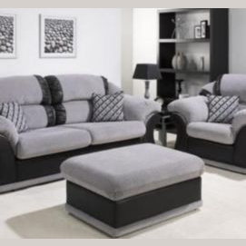 Buy a nice-looking discount three-piece suite which you can fix up easily.