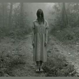 A creepy little girl