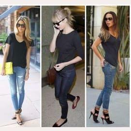 You know, jeans and I tee shirt like always.