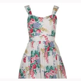 A girly floral dress.