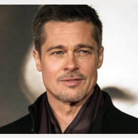Brad Pitt. He's almost as sexy as me!