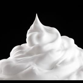 De la crème fouettée