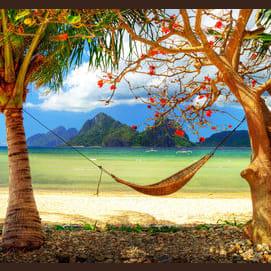 A relaxing beach