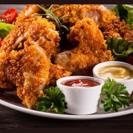 Alitas de pollo empanizadas