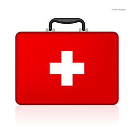 A first aid kit