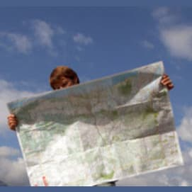 Google Maps was printed out on paper. And it was just called a MAP!