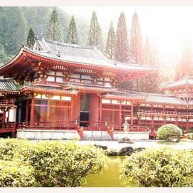 Visiting historical landscapes and temples of Japan