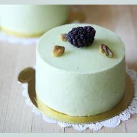 Raspberry Pistachio Mousse Cake