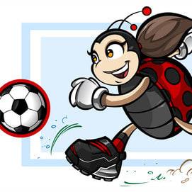 Mascot ladybug