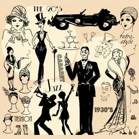 The Roaring Twenties—  Glittery art deco excess is the bee's knees!