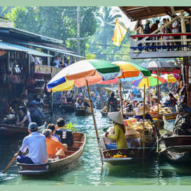Somewhere exotic with a mix of cultural activities and relaxing ones, like Thailand.